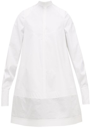 Valentino Tie-back Cotton Mini Dress - Womens - White