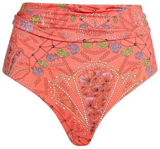 Emilio Pucci Conchiglie High-Waist Bikini Bottoms