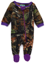 Purple Camo Fleece Footie - Infant