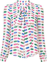 Milly lips print blouse