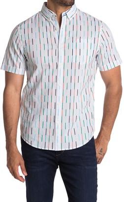 Original Penguin Short Sleeve Vertical Broken Stripe Print Shirt