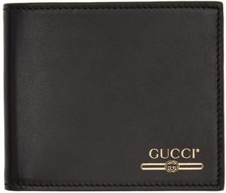 Gucci Black Logo Bifold Wallet
