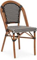 Tiab Inc. Outdoor Café Bistro Chair, Black/White