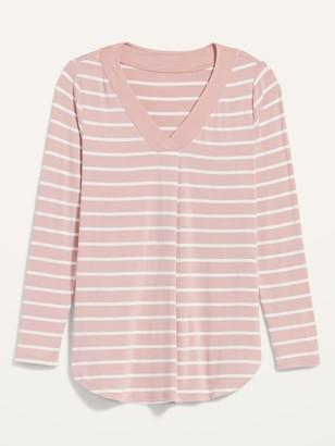 Old Navy Luxe Stripe V-Neck Tunic Tee for Women