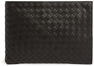 Bottega Veneta Leather Intrecciato Document Case