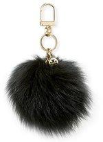 Tory Burch Fur Pompom Key Fob, Black