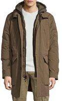 Belstaff Oldham Hooded Parka Jacket, Russet Brown