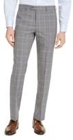 Michael Kors Men's Classic-Fit Airsoft Stretch Gray Plaid Suit Pants