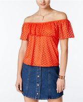 Amy Byer Juniors' Off-The-Shoulder Lace Blouse
