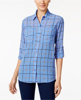 MICHAEL Michael Kors Printed Roll-Tab-Sleeve Shirt