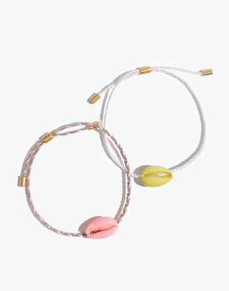 Madewell Neon Cowrie Corded Friendship Bracelet Set