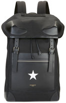 Givenchy Men's Canvas and Leather Star Backpack, Black