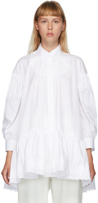 Simone Rocha White Gathered Shirt
