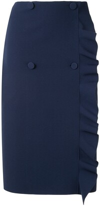MSGM ruffle-trimmed pencil skirt
