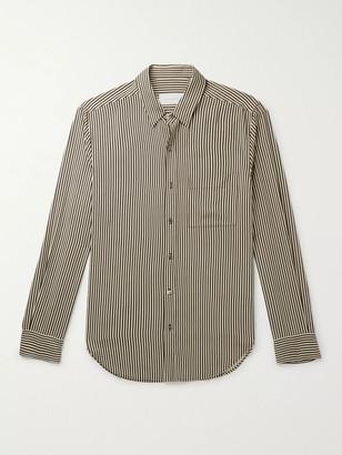 Equipment Slim-Fit Striped Twill Shirt