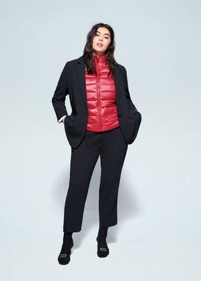 MANGO Violeta BY Quilted zipper gilet dark navy - S - Plus sizes