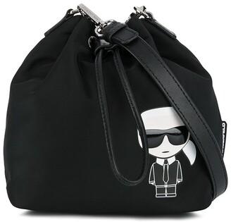 Karl Lagerfeld Paris K/Ikonik bucket bag