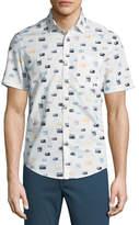 Original Penguin Radio Print Short-Sleeve Sport Shirt