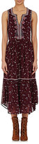 Ulla Johnson Women's Embroidered Chiffon Leena Midi-Dress-BURGUNDY