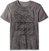 Calvin Klein Jeans Men's Ckj Logo Crew Neck Graphic T-Shirt