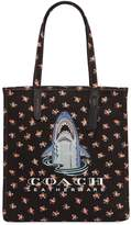 Coach Shark & Floral Cotton Canvas Tote Bag