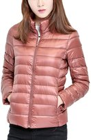 Aoibox Women's Lightweight Packable Down Jacket Stand Collar Outwear Puffer Coats
