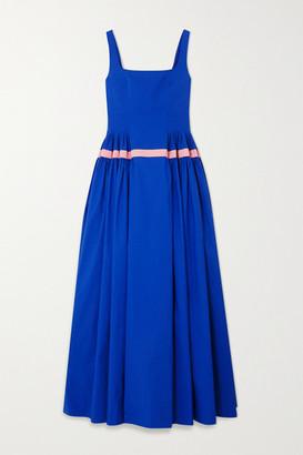 MINJUKIM Two-tone Pleated Taffeta Gown - Blue