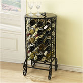 JCPenney Glass-Top Wine Rack Table