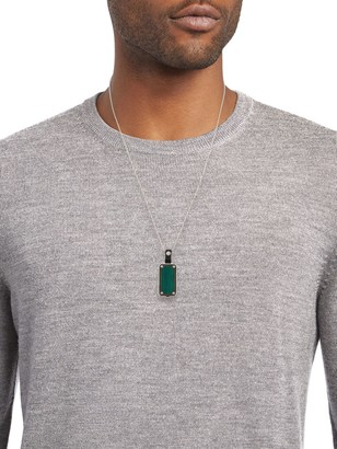 Stephen Webster Sterling Silver & Malachite Pendant Necklace