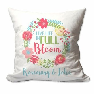Winston Porter Herby Personalized Live Life in Full Bloom Throw Pillow Cover Customize: Yes