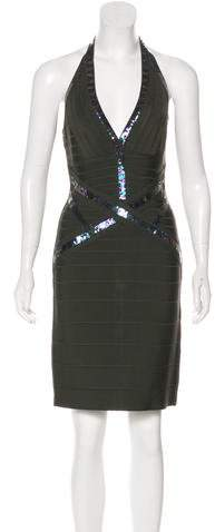 Herve Leger Katilyn Embellished Dress w/ Tags