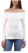 L'Agence Women's Cynthia Ponte Off-the-Shoulder Long-Sleeve Top