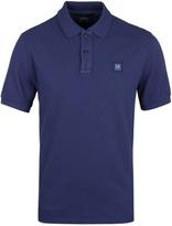 Cp Company Royal Blue Pique Short Sleeve Polo Shirt
