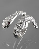white gold plated CZ cobra ring