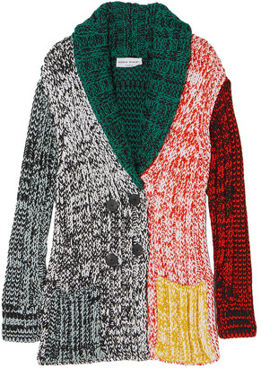Sonia Rykiel Marled Color-block Knitted Cardigan
