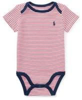 Ralph Lauren Striped Cotton Jersey Bodysuit Red Flag/White Newborn