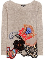 Etro Embroidered Cotton, Wool And Cashmere Sweater