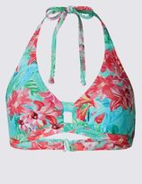 Marks and Spencer Floral Print Triangle Bikini Top