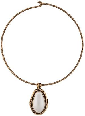 Alexander McQueen White Stone Choker Necklace