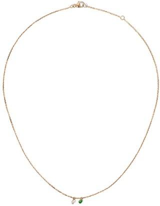 Raphaele Canot 18kt rose gold Set Free diamond and tsavourite necklace
