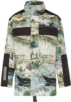 Off-White Lake print cotton blend military jacket