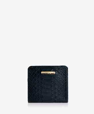 GiGi New York Mini Foldover Wallet In Black Embossed Python