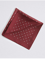 M&S Collection Pure Silk Spotted Pocket Square