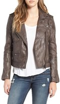 Blank NYC Women's Blanknyc Genuine Leather Moto Jacket