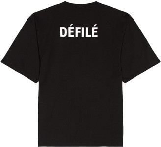 Balenciaga Defile Tee in Black | FWRD
