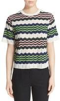 M Missoni Zigzag Short Sleeve Knit Top