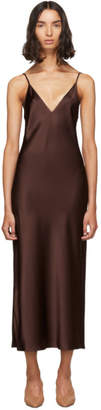 Joseph Burgundy Silk Clea Dress