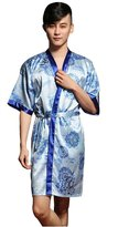 Sunrise Men's Kimono Printed Sexy Short Bathrobe Robes