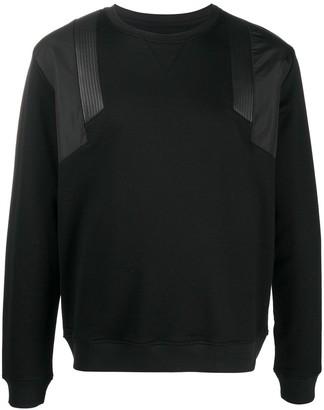 Les Hommes Panelled Crewneck Sweatshirt