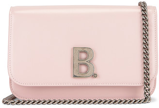 Balenciaga B Wallet on Chain Bag in Light Rose | FWRD